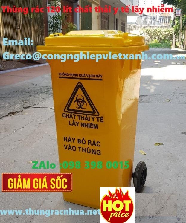 Thùng rác thải nguy hại loại 120 lít